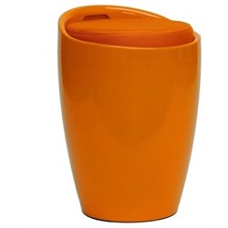 Hawthorne Collection Storage Stool in Orange