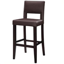 Hawthorne Collection Faux Leather Bar Stool in Dark Espresso(K)
