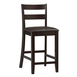 Hawthorne Collection Faux Leather Counter Stool in Rich Espresso