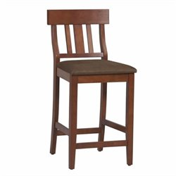 Hawthorne Collection Slat Back Counter Stool in Dark Cherry