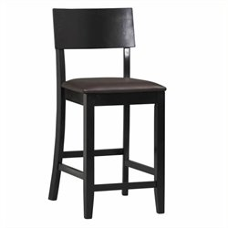 Hawthorne Collection Faux Leather Bar Stool in Black (k)