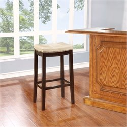 Hawthorne Collection Faux Leather Counter Stool in Jute