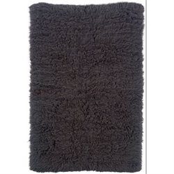 Hawthorne Collection Hand Woven Shag Wool Rug in Gray (H)