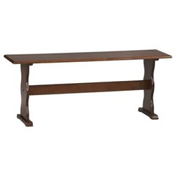 Hawthorne Collection Kitchen Bench in Walnut