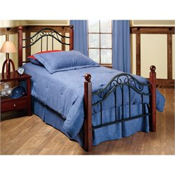 MER-1183 Poster Bed in Textured Black Rails