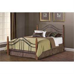 MER-1183 Poster Spindle Bed in Textured Black No Rails
