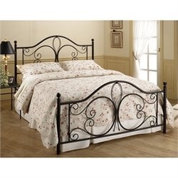 Hawthorne Collections Twin Metal Bed in Antique Brown