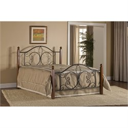 Hawthorne Collections Twin Poster Bed in Textured Black