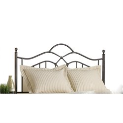 Hawthorne Collections Full Queen Metal Spindle Headboard in Bronze