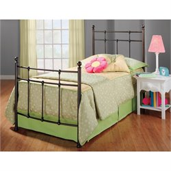 Hawthorne Collections Twin Metal Spindle Bed in Bronze