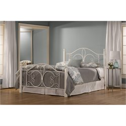 Hawthorne Collections Full Metal Bed in Textured White