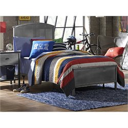 MER-1183 Hillsdale Urban Quarters Panel Bed in Black Steel