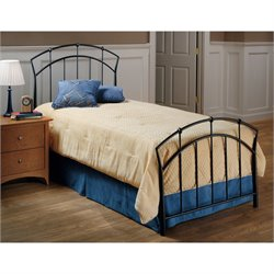 Hawthorne Collections Twin Metal Spindle Bed in Dark Antique Brown