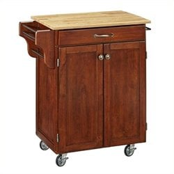MER-1183 Kitchen Cart in Cherry 1