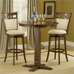 Hawthorne Collections 3 Piece Pub Table Set with Stools in Brown