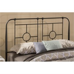 MER-1183 Hillsdale Trenton Metal Headboard in Black Sparkle