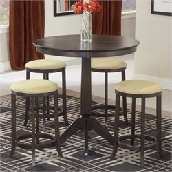Hawthorne Collections 5 Piece Pub Table Set in Espresso