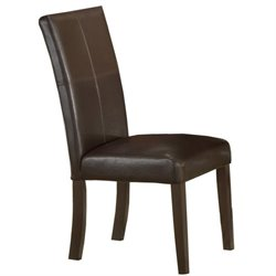 Hawthorne Collections Leather Dining Chair in Espresso (Set of 2)