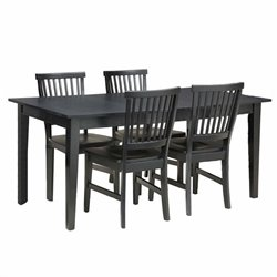 MER-1183 Home Styles Arts & Crafts Dining Set in Ebony