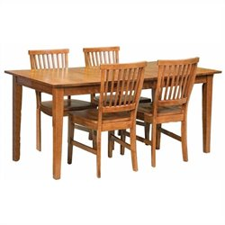 MER-1183 Home Styles Arts and Crafts Dining Set in Cottage Oak