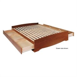 Hawthorne Collections Twin Platform Storage Bed in Cherry