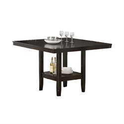 Hawthorne Collections Square Counter Height Dining Table in Cappuccino