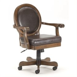 Hawthorne Collections Arm Chair with Casters in Cherry