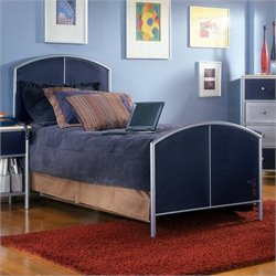 MER-1183 Hillsdale Universal Youth Bed in Navy and Silver Finish