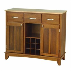 Hawthorne Collections Wine Rack Buffet in Oak