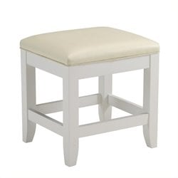 Hawthorne Collections Vanity Bench in White