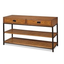 Hawthorne Collections Media Console in Distressed Oak