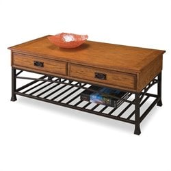 Hawthorne Collections Coffee Table in Distressed Oak