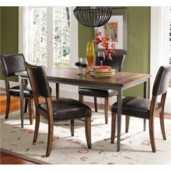 Hawthorne Collections 5 Piece Dining Set in Brown