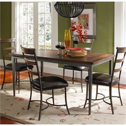 Hawthorne Collections 5 Piece Wood Dining Set in Brown