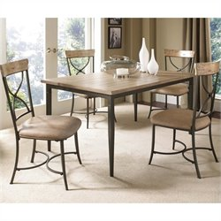 Hawthorne Collections 5 Piece Dining Set in Tan