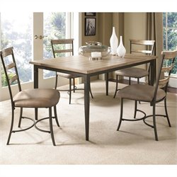 Hawthorne Collections 5 Piece Wood Dining Set in Tan