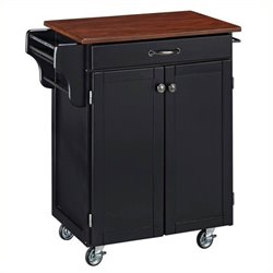 MER-1183 Wood Top Kitchen Cart in Cherry