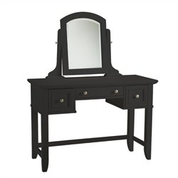 Hawthorne Collections Bedroom Vanity Table in Black