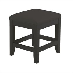 Hawthorne Collections Vanity Bench in Black