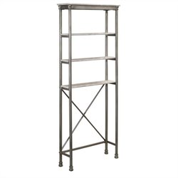 Hawthorne Collections Spacesaver Storage Shelf in Gray and Marble