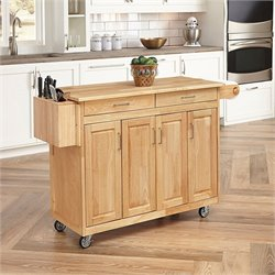 Hawthorne Collections Kitchen Cart with Breakfast Bar in Natural