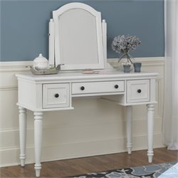 Hawthorne Collections Bedroom Vanity and Mirror in White