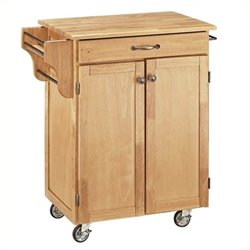 MER-1183 Kitchen Cart in Natural Wood
