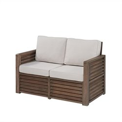 Hawthorne Collections Patio Loveseat with Gray Cushions