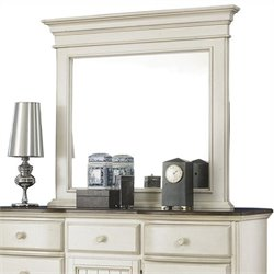 Hawthorne Collections Dresser Mirror in White