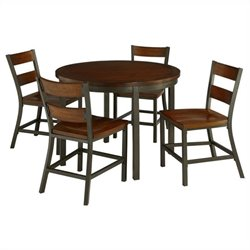 Hawthorne Collections 5 Piece Dining Set in Chestnut