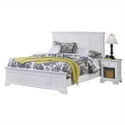 Hawthorne Collections 2 Piece King Panel Bedroom Set in White