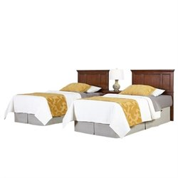 MER-1183 2 Twin Panel Headboards and Nightstand Set 1