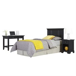 MER-1183 3 Piece Twin Panel Headboard Bedroom Set 4