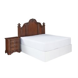 Hawthorne Collections 2 Piece Panel Headboard Bedroom Set in Cognac
